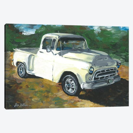 55 Chevy Truck Canvas Print #HHS126} by Hippie Hound Studios Canvas Art