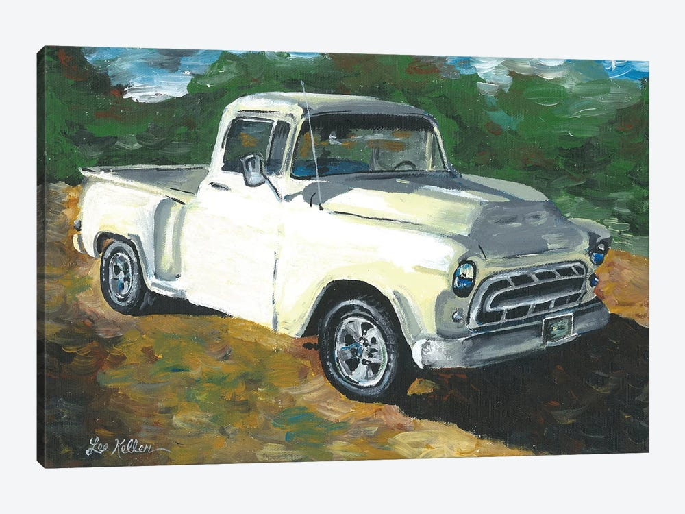 55 Chevy Truck by Hippie Hound Studios 1-piece Canvas Wall Art