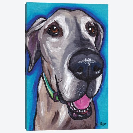 Beau The Great Dane Canvas Print #HHS128} by Hippie Hound Studios Canvas Print