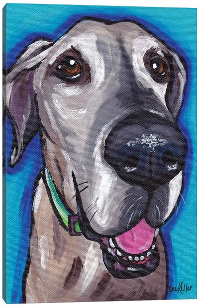 Beau The Great Dane Canvas Art Print
