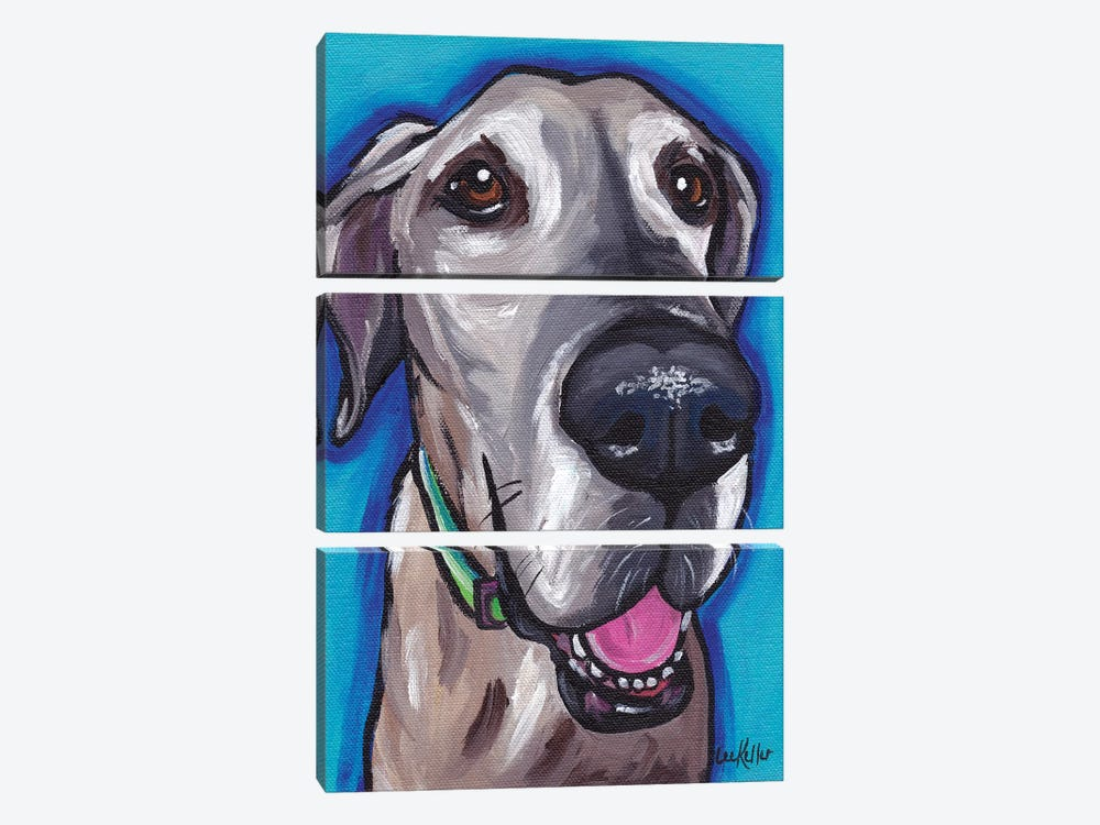 Beau The Great Dane by Hippie Hound Studios 3-piece Canvas Art