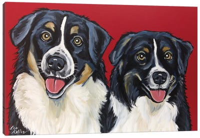 Border Collie Buddies Canvas Art Print