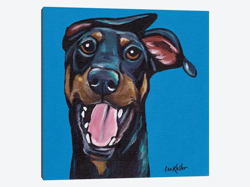 Fun Doberman by Hippie Hound Studios 1-piece Canvas Artwork