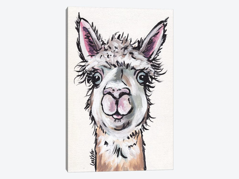 Maggie The Alpaca by Hippie Hound Studios 1-piece Canvas Wall Art