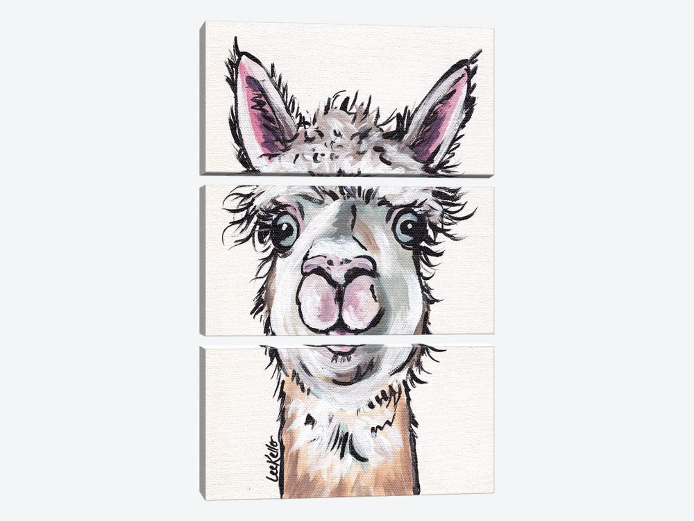 Maggie The Alpaca by Hippie Hound Studios 3-piece Canvas Art