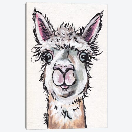 Maggie The Alpaca Canvas Print #HHS140} by Hippie Hound Studios Canvas Print