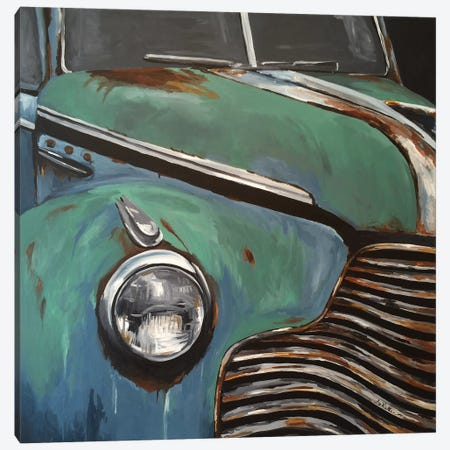 Old Buick I Canvas Print #HHS144} by Hippie Hound Studios Canvas Wall Art