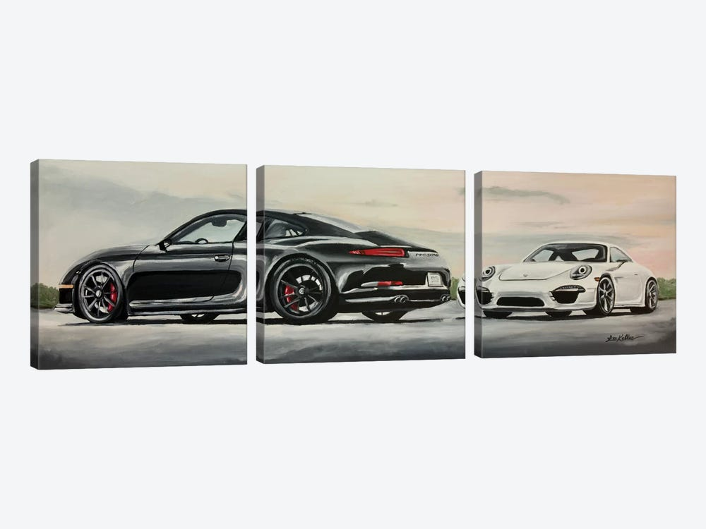 Porsche's Best by Hippie Hound Studios 3-piece Art Print