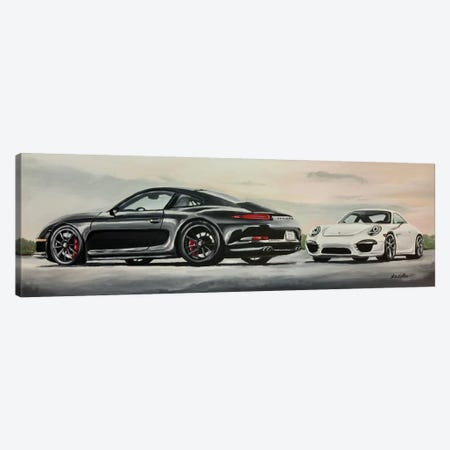 Porsche's Best Canvas Print #HHS145} by Hippie Hound Studios Canvas Artwork