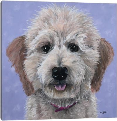 Rosie The Goldendoodle Canvas Art Print