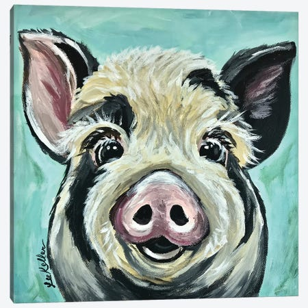 Sarge The Pig Canvas Print #HHS148} by Hippie Hound Studios Canvas Print
