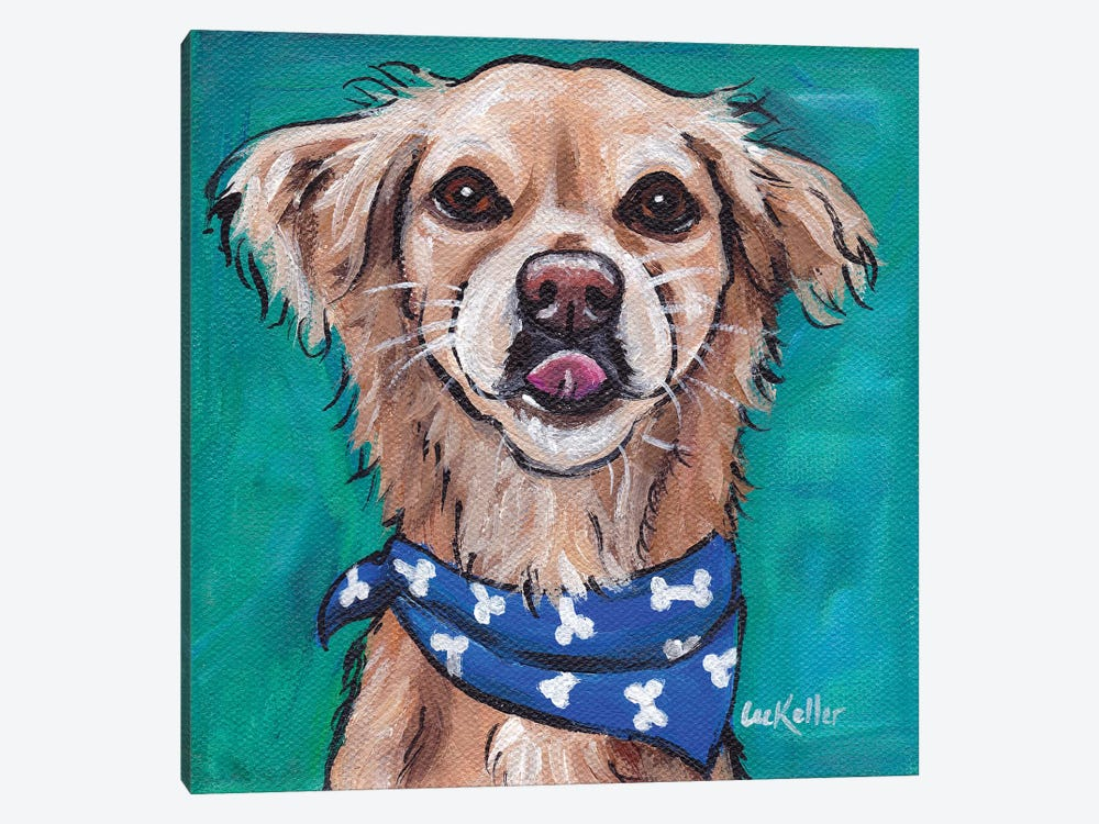 Transom The Rescue Dog by Hippie Hound Studios 1-piece Canvas Wall Art