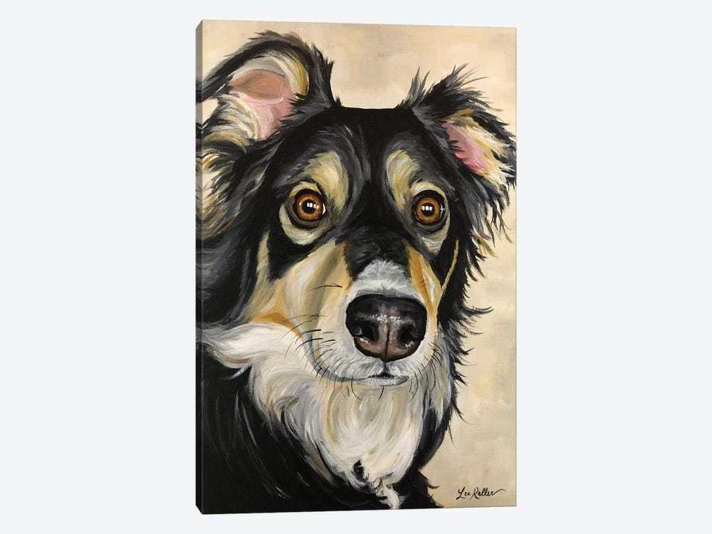Australian Shepherd Sophie by Hippie Hound Studios 1-piece Canvas Art Print