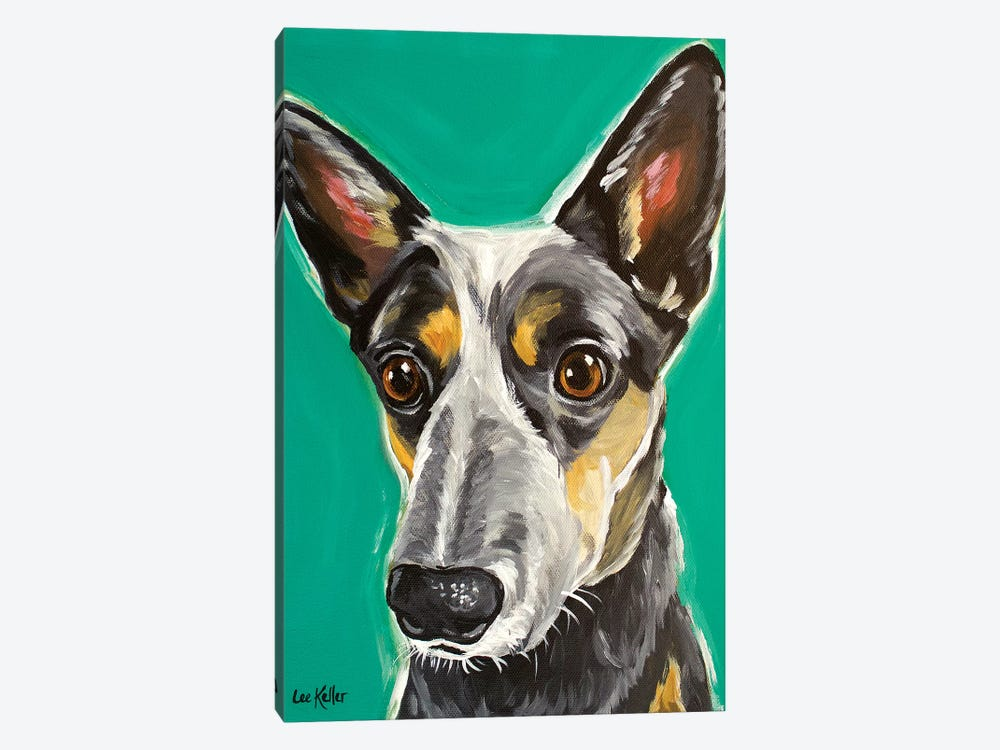 Cows Australian Cattle Dog by Hippie Hound Studios 1-piece Canvas Art