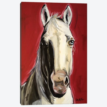 Horse Piper Canvas Print #HHS159} by Hippie Hound Studios Canvas Art