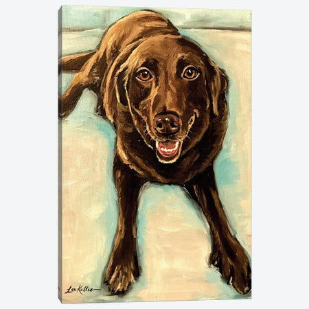 Chocolate Lab Canvas Print #HHS15} by Hippie Hound Studios Canvas Wall Art