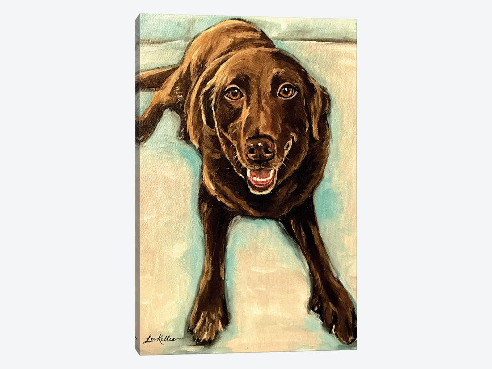 Chocolate Lab by Hippie Hound Studios 1-piece Canvas Wall Art