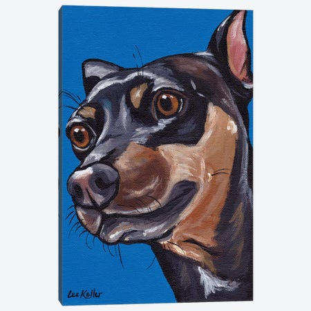Penelope Min Pin Canvas Print #HHS163} by Hippie Hound Studios Canvas Art Print
