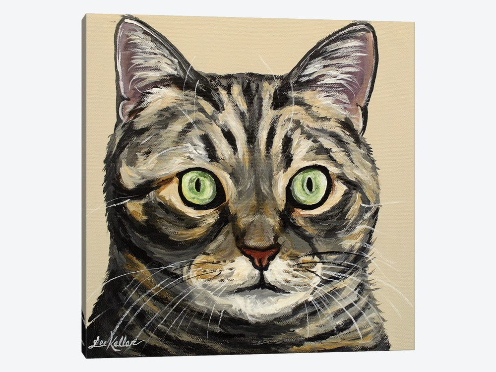 Tabby Cat Tan by Hippie Hound Studios 1-piece Canvas Print