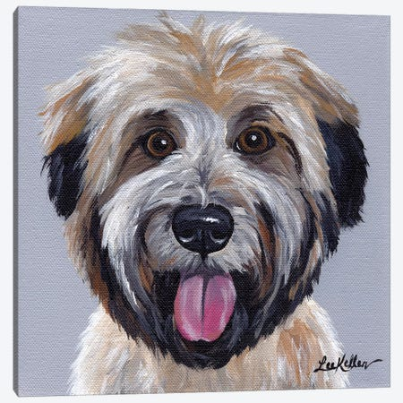Wheaten Terrier III Canvas Print #HHS170} by Hippie Hound Studios Canvas Art