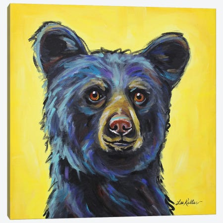 Bear - Bernard Canvas Print #HHS176} by Hippie Hound Studios Art Print