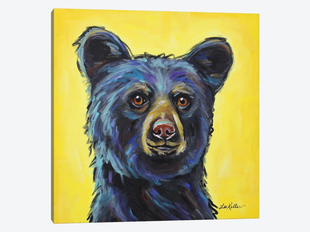 Bear - Bernard by Hippie Hound Studios 1-piece Canvas Print