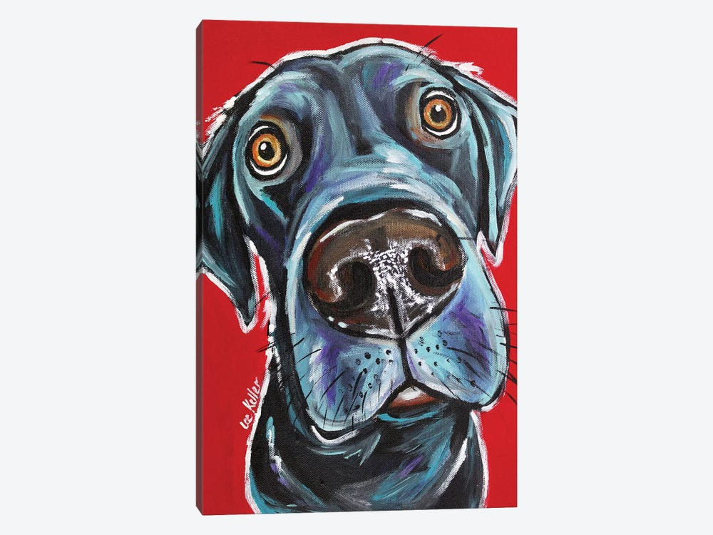 Black Lab - Arlo by Hippie Hound Studios 1-piece Canvas Art Print