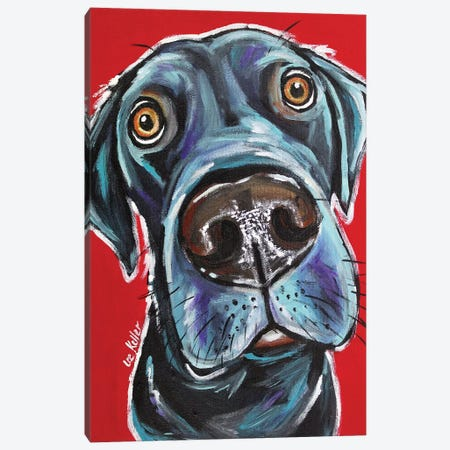 Black Lab - Arlo Canvas Print #HHS178} by Hippie Hound Studios Canvas Artwork