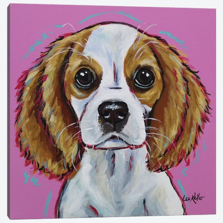 Cavalier King Charles Spaniel - 'Love Bug' Canvas Print #HHS181} by Hippie Hound Studios Canvas Art Print