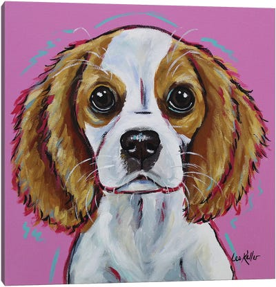 Cavalier King Charles Spaniel - 'Love Bug' Canvas Art Print