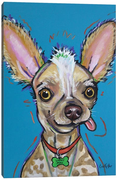 Chinese Crested - Spike Canvas Art Print