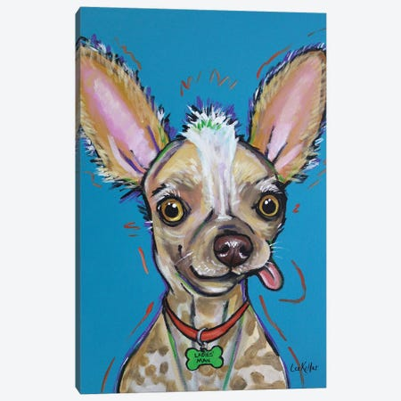 Chinese Crested - Spike Canvas Print #HHS183} by Hippie Hound Studios Canvas Art Print