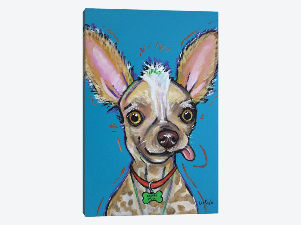 Chinese Crested - Spike by Hippie Hound Studios 1-piece Canvas Art Print