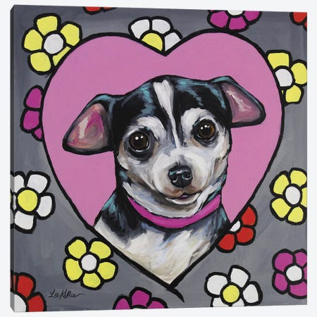 Chihuahua - Coco Canvas Print #HHS184} by Hippie Hound Studios Canvas Wall Art
