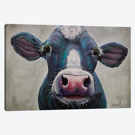 Cow - Clara Belle Canvas Print #HHS185} by Hippie Hound Studios Canvas Artwork