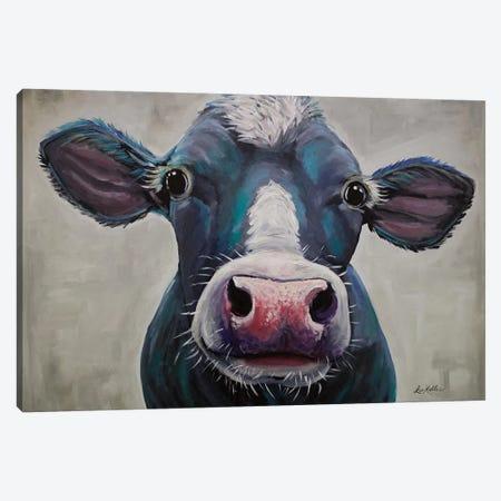 Cow - Clara Belle Canvas Print #HHS185} by Hippie Hound Studios Canvas Artwork