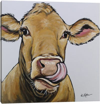 Cow - Daisy Canvas Art Print