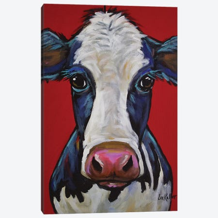 Cow - Georgia Canvas Print #HHS187} by Hippie Hound Studios Canvas Wall Art