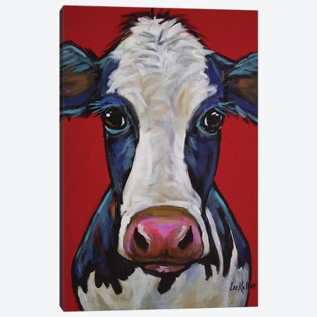Cow - Georgia Canvas Print #HHS187} by Hippie Hound Studios Canvas Wall Art