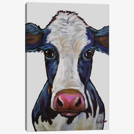 Cow - Georgia Gray Canvas Print #HHS189} by Hippie Hound Studios Art Print