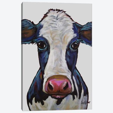 Cow - Georgia Gray Canvas Print #HHS189} by Hippie Hound Studios Art Print