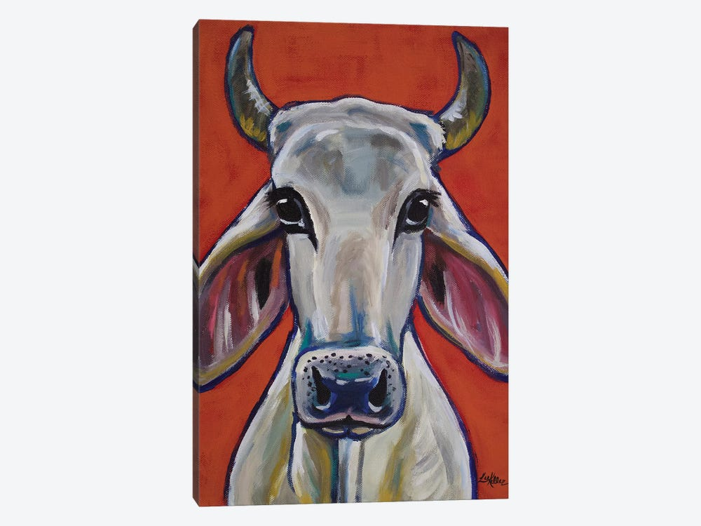 Cow - Zebu Ox by Hippie Hound Studios 1-piece Canvas Art Print
