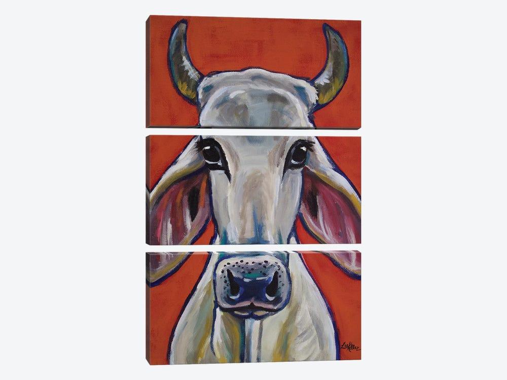 Cow - Zebu Ox by Hippie Hound Studios 3-piece Canvas Print
