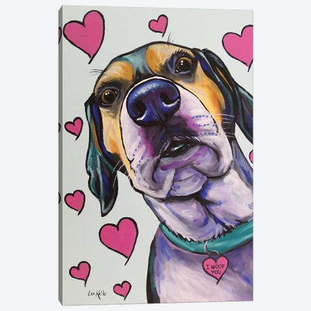 Walker Hound - Ellie Canvas Print #HHS191} by Hippie Hound Studios Canvas Art