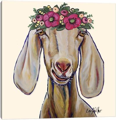 Goat - Margot Flowers Canvas Art Print
