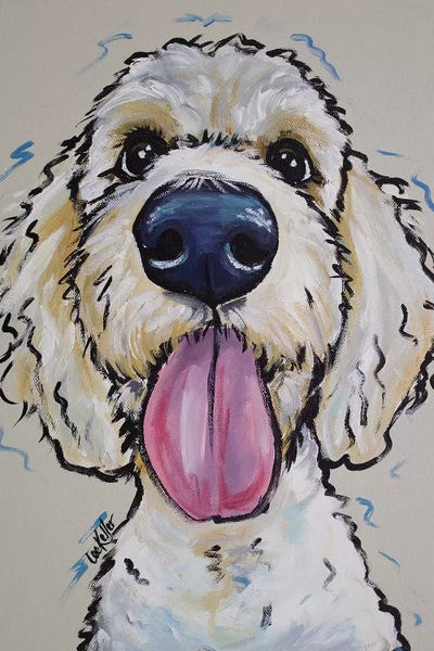 Goldendoodle Murphy Whimsical Canvas Art Hippie Hound Studios Icanvas