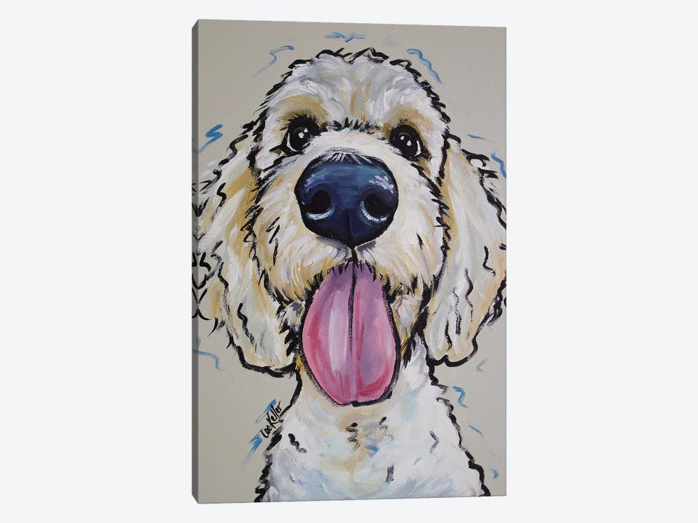 Goldendoodle - Murphy Whimsical by Hippie Hound Studios 1-piece Canvas Artwork