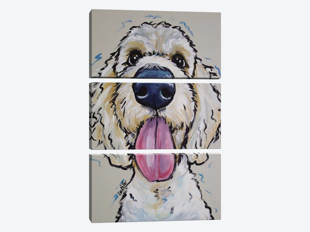 Goldendoodle - Murphy Whimsical by Hippie Hound Studios 3-piece Canvas Wall Art