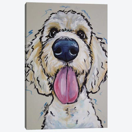 Goldendoodle - Murphy Whimsical Canvas Print #HHS199} by Hippie Hound Studios Canvas Art