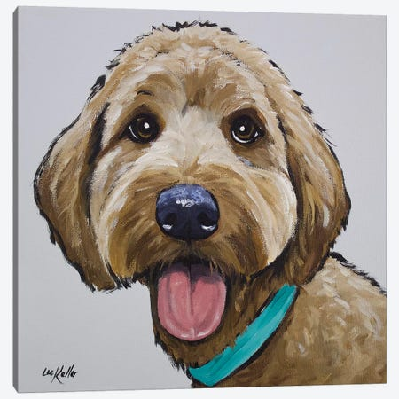 Goldendoodle - Olivia Canvas Print #HHS200} by Hippie Hound Studios Canvas Art